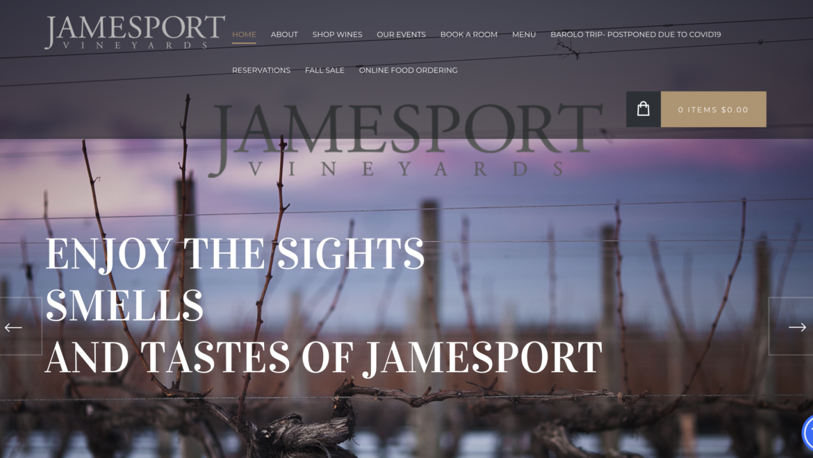 Jamesport Vineyards Launches New Website