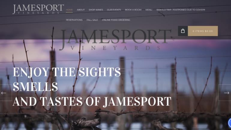 Jamesport Vineyards Launches New Website